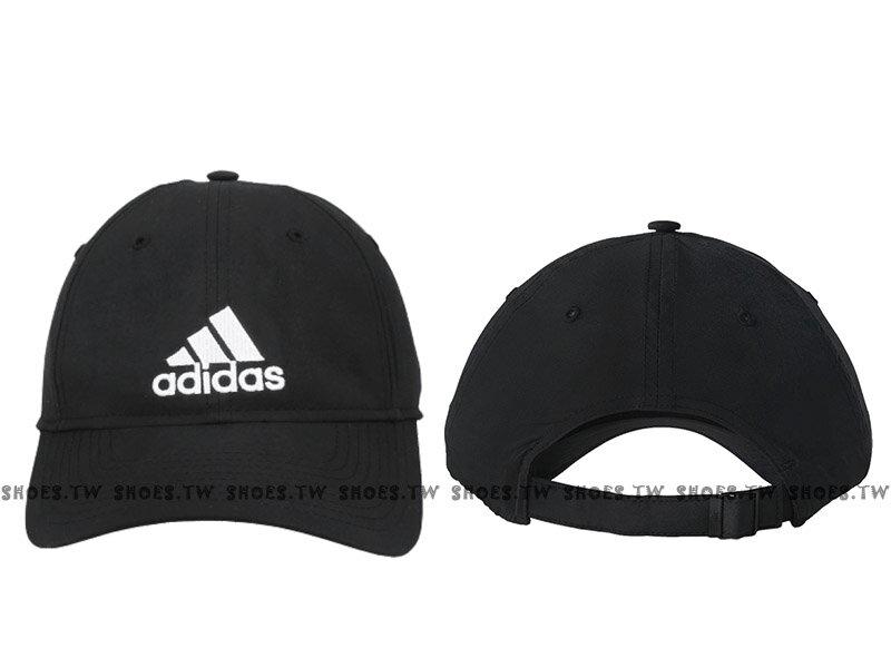 Shoestw~S20436~ADIDAS  棒球帽 老帽 UPF50 防曬 黑色 後扣可