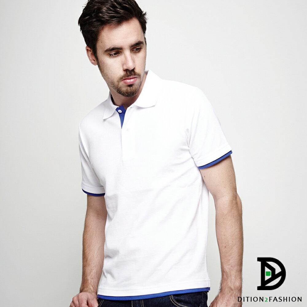DITION 職人拼接雙色POLO衫 多尺寸情侶款 紳士休閒 3