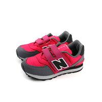 New Balance 美國慢跑鞋/跑步鞋推薦New Balance 574 運動鞋 魔鬼氈 桃紅色 童 KV574QGY no335