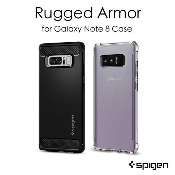 SpigenSGP三星Note8RuggedArmor透明系列保護殼台灣公司貨