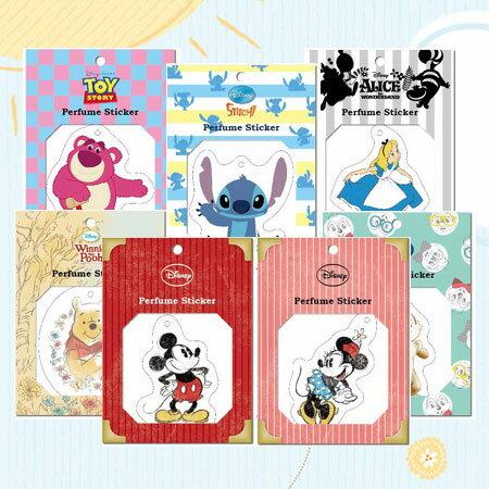 正版迪士尼造型香水貼 香片 香氛 香味 芳香 芳香吊牌 Disney 米奇 米妮 史迪奇 奇奇 維尼 三眼怪 愛麗絲【B062920】