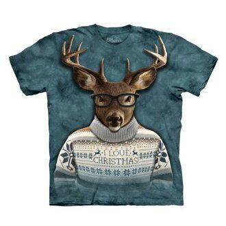 【摩達客】(預購)美國進口The Mountain 文青麋鹿人 純棉環保短袖T恤