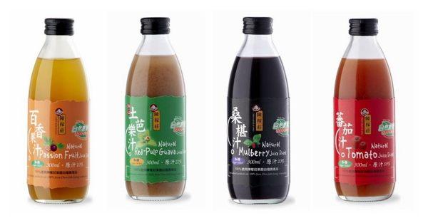 陳稼莊 即飲式(加糖) 桑椹汁/百香果汁/紅心土芭樂汁/蕃茄汁 300ml