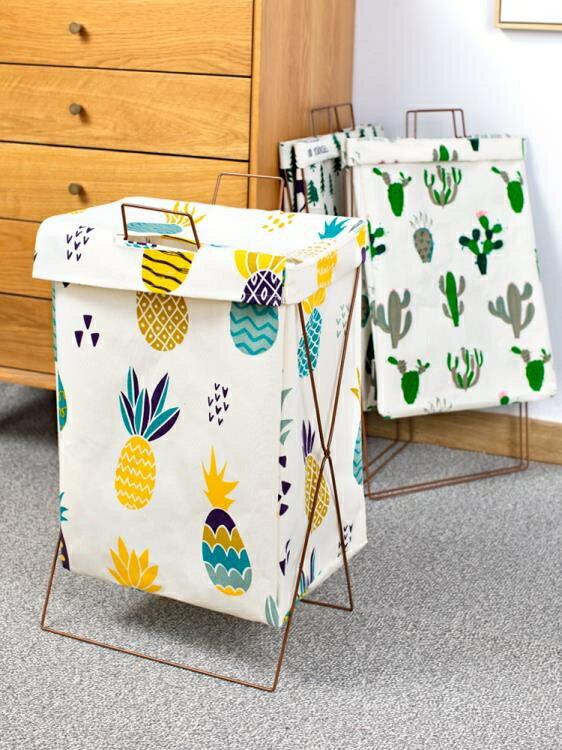 髒衣籃 衛生間臟衣服收納筐家用帶蓋折疊臟衣籃大號布藝臟衣簍收納神器 果果輕時尚