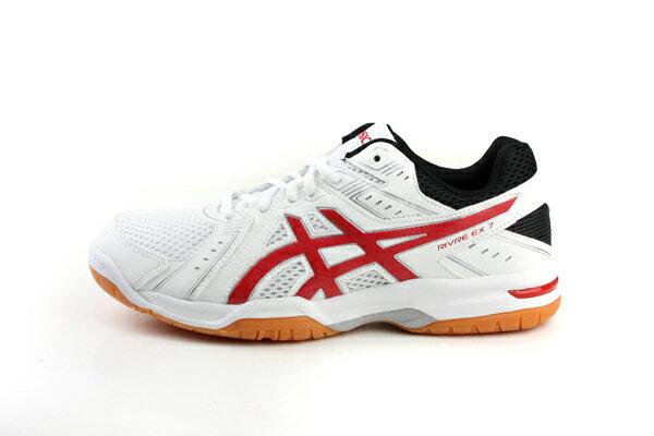 亞瑟士 ASICS RIVRE EX 7 羽排球鞋 運動鞋 白色 男鞋 TVR482-0123 no316 6
