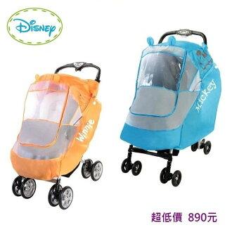 *美馨兒* 正版迪士尼 - vivibaby - 迪士尼米奇/維尼雙向推車用雨罩(二色可挑) 890元