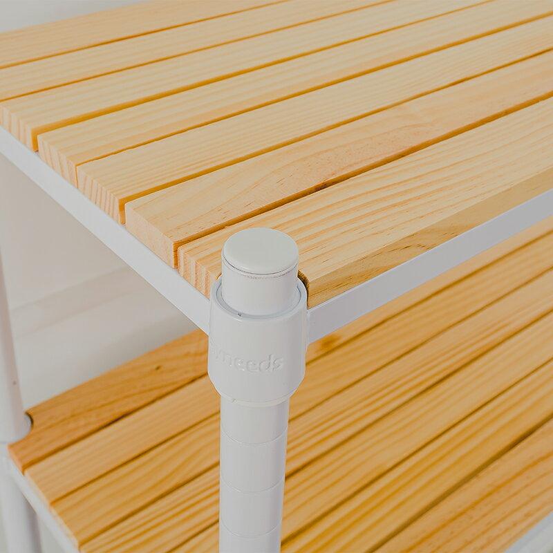 展示架 / 置物架 / 實木層架 60x30x60公分 松木三層收納層架_烤漆白 dayneeds 3