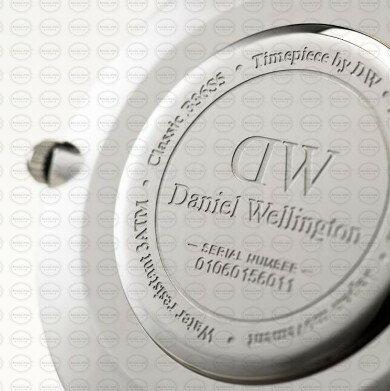40MM 0130DW 黑錶面 真皮咖啡錶帶 瑞典正品代購 Daniel Wellington 男錶手錶腕錶 1