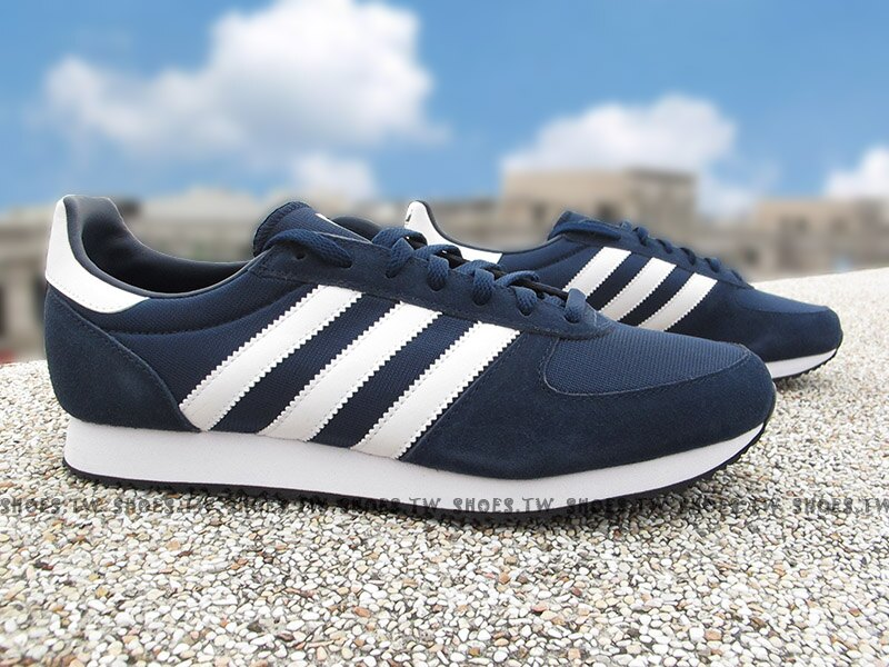 《特價1390》Shoestw【S79201】ADIDAS ZX RACER 深藍白 麂皮 網布 男生