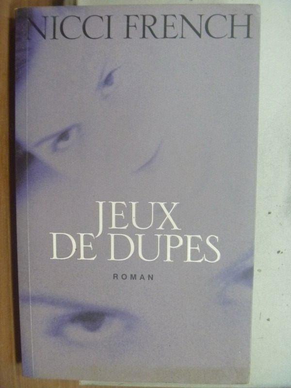【書寶二手書T4/勵志_HPI】Jeux de dupes_Nicci French