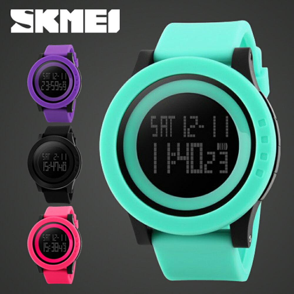 SKMEI時刻美 1142 酷炫螢光色大錶盤防水電子錶 0