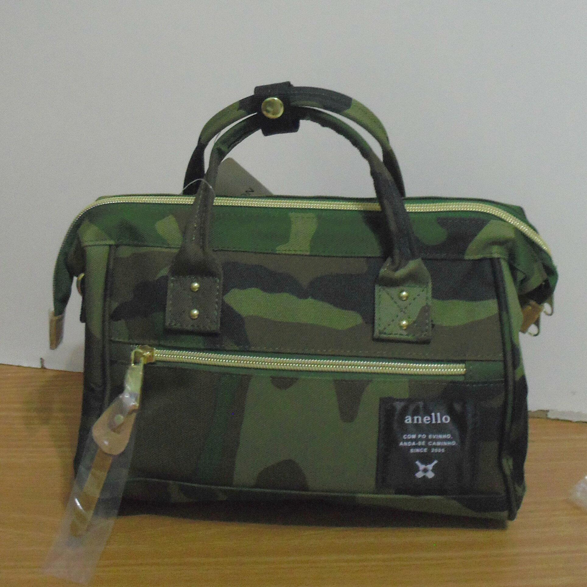 anello -mini 迷你小款 迷你波士頓包/手提包 / 肩背包 (迷彩綠)
