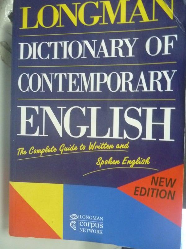 ~書寶 書T7/字典_ZDC~Longman Dictionary of Contempo