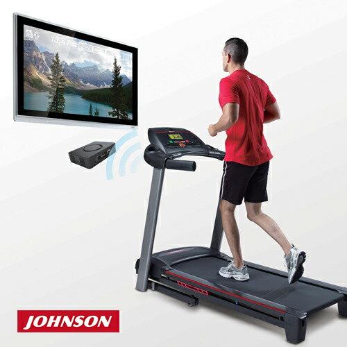 JOHNSON喬山 6.1T 實境互動電動跑步機《viewfit運動系統》