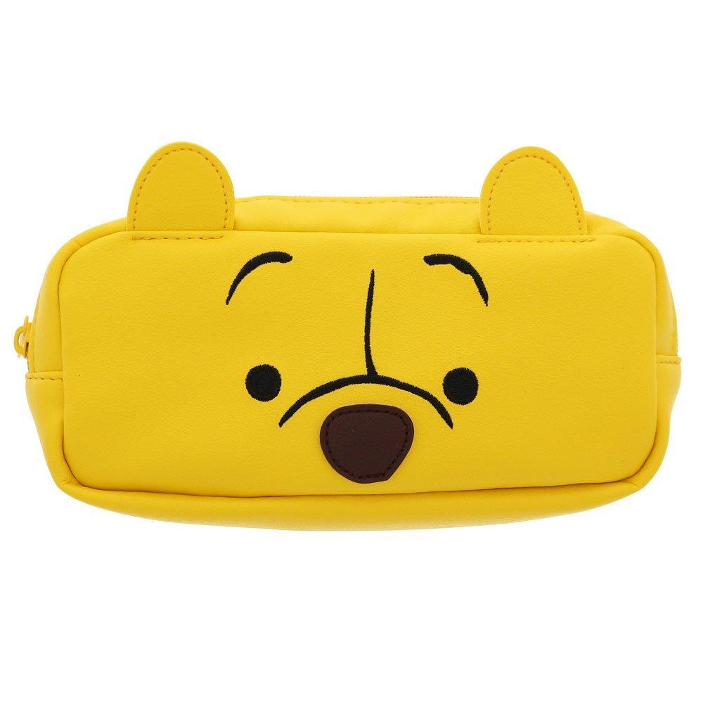 X射線【C540368】小熊維尼Winnie the Pooh 大臉筆袋,美妝小物包/筆袋/面紙包/化妝包/零錢包/收納包/皮夾/手機袋/鑰匙包