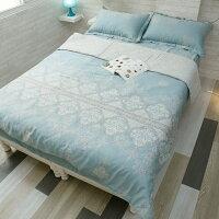 居家生活40支 天絲 床包 兩用被 床包組 [ 青色波斯王子 ]  棉床本舖 好窩生活節。就在棉床本舖Annahome居家生活