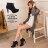 格子舖*【KP1707】MIT台灣製 時尚性感 質感麂皮舒適防水台 繫帶9CM高跟短靴 2色 0