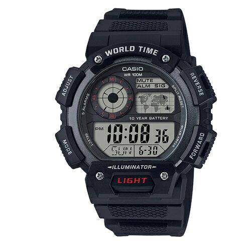 CASIO10年電力橡膠運動錶防水100米AE-1400WH-1AVDF
