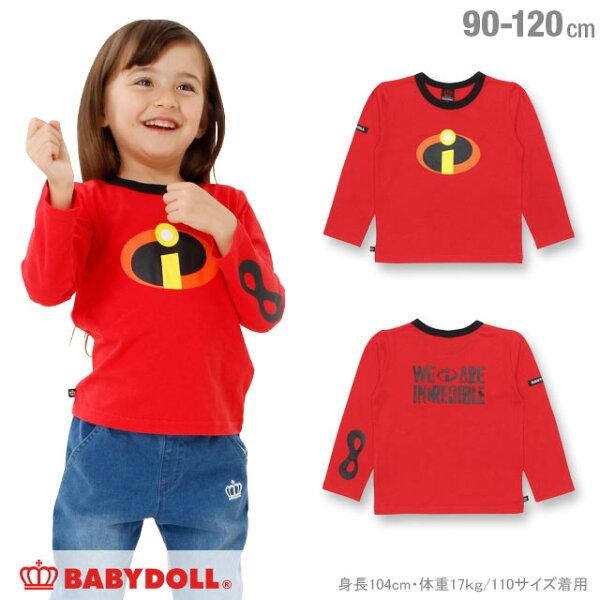 日本BABYDOLL童裝迪士尼超人特攻隊長袖上衣CBT-25309342。1色90cm(2376)-日本必買免運代購