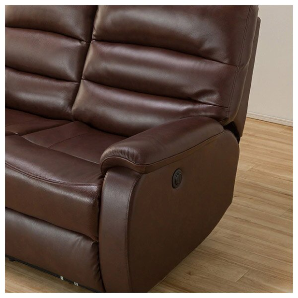 ◎(OUTLET)全皮3人用頂級電動可躺式沙發 BELIEVER ROYAL DBR 福利品 NITORI宜得利家居 5