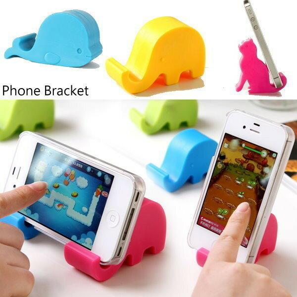 橙漾夯生活ORGLIFE:《SD0005》第2個起價!大象鯨魚貓咪手機支架手機座支撐架HTCsonyi6