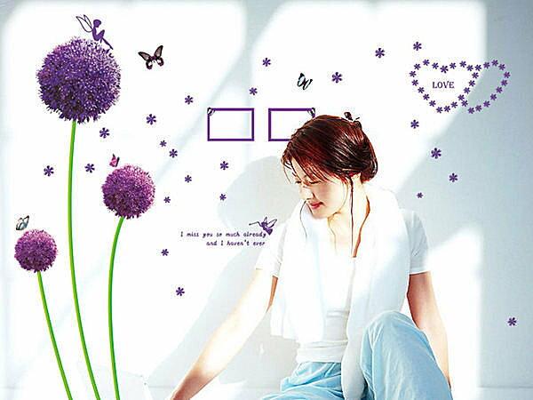 BO雜貨【YV2890】可移動 時尚組合相框壁貼 牆貼 壁貼紙 創意璧貼 浪漫蒲公英