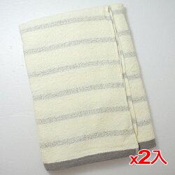 ★2件超值組★TELITA 粉彩竹炭條紋浴巾(68*132cm)【愛買】
