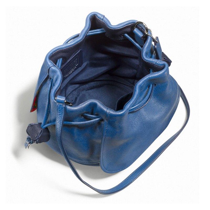 (Smile) COACH F57543 新款女士皮革拉繩水桶包單肩斜挎女包 5