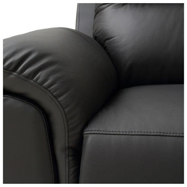 ◎半皮1人用電動可躺式沙發 N-BEAZEL BK NITORI宜得利家居 6