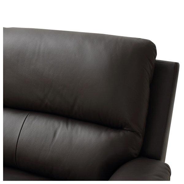 ◎(OUTLET)半皮3人用沙發 N-BEAZEL DBR 福利品 NITORI宜得利家居 4