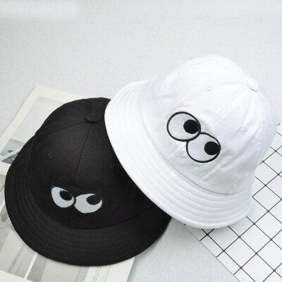 50%OFF SHOP~E022482FH~ 眼睛盆帽男女休閒遮陽帽春夏天出遊可折疊漁夫帽