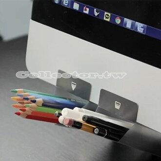 【O14081401】韓版-DIY電腦螢幕可黏式筆筒 顯示器輔助文具插袋 創意桌面整理收納