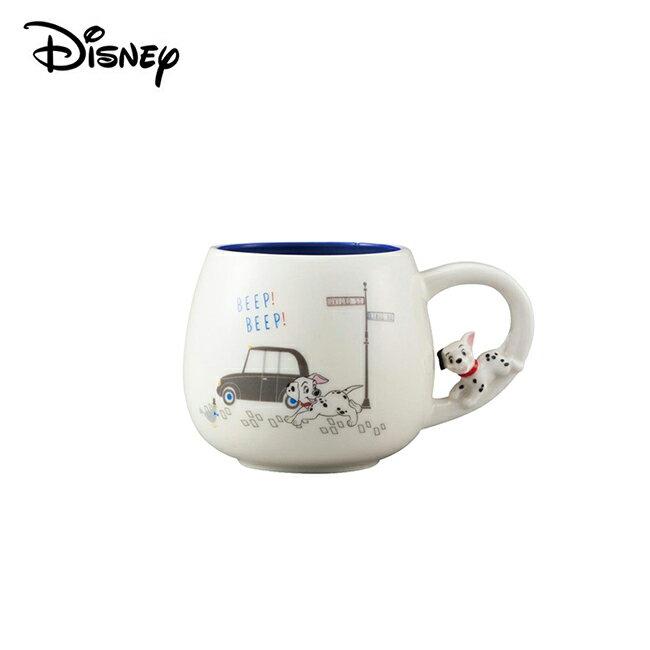 【日本正版】101忠狗 陶瓷 造型馬克杯 300ml 咖啡杯 迪士尼 Disney - 246770
