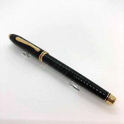 高仕CROSS-鋼珠筆-濤聲系列-575-黑琺瑯金夾