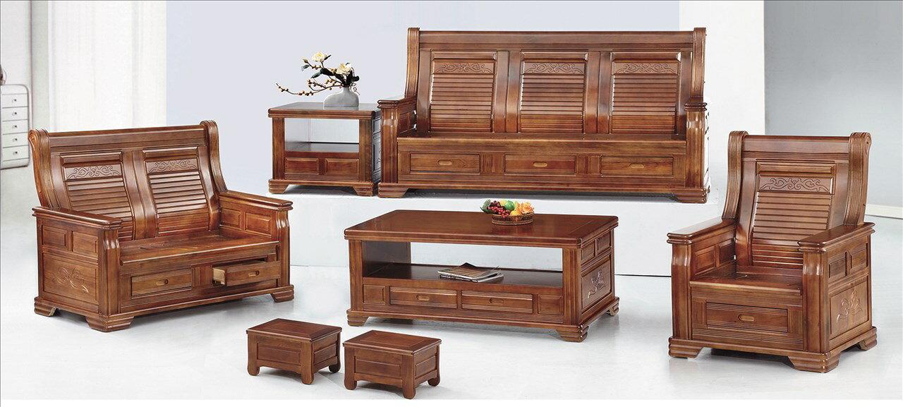 ~石川家居~EF~186~12 805型樟木色三人椅  不含   需 車趟