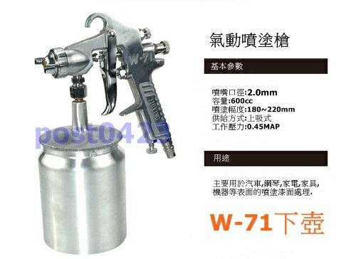 【小工人】NK正品W71S下壺600CC油漆噴槍 壓送式1.5口徑標準噴嘴 氣動噴漆槍 油漆噴塗槍