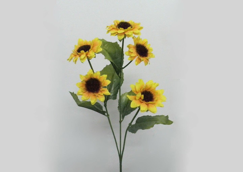 ★超低價★3頭 迷你向日葵 / 人造花 空間 景觀 佈置 造景