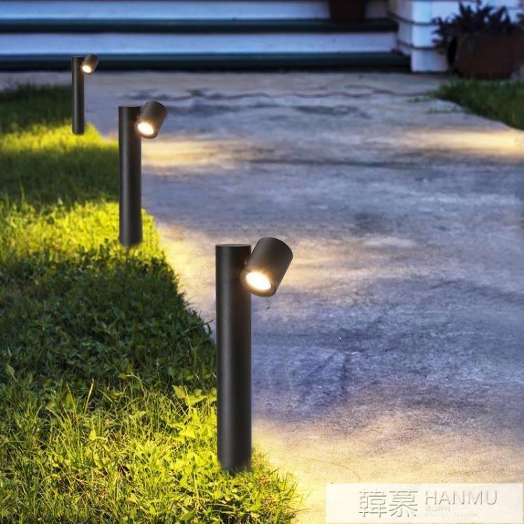 LED戶外防水草坪燈 現代花園庭院燈 創意鋁材雙頭戶外庭院景觀燈 樂樂百貨