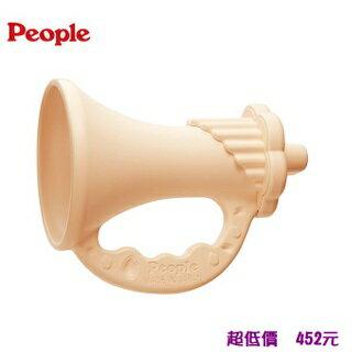 People 新米的喇叭咬舔玩具/固齒器/米製玩具 0m+『121婦嬰用品館』