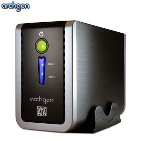 archgon 2.5/3.5吋USB3.0 2bay陣列盒