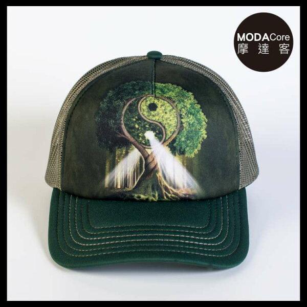 【摩達客】(預購)美國進口TheMountain自然陰陽村藝術棒球帽網帽5-Panel新五分割帽