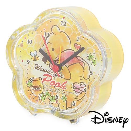 【日本進口】小熊維尼 Winnie the Pooh 迪士尼系列 鬧鐘 造型鐘 指針時鐘 燈光設計 Disney - 738069