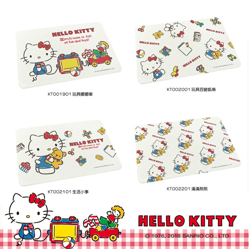 Sanrio三麗鷗  Hello Kitty滿版粉色吸水珪藻土地墊 24款凱蒂貓 7