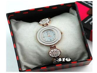 《316小舖》【PG23】(時尚石英手錶-菊花女錶-單件價 /男性手錶/女性手錶/生日禮物/耶誕節禮物/韓式女手錶)