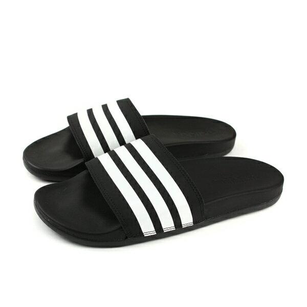 adidasADILETTECOMFORT拖鞋戶外軟舒適好穿黑色男鞋AP9971no579