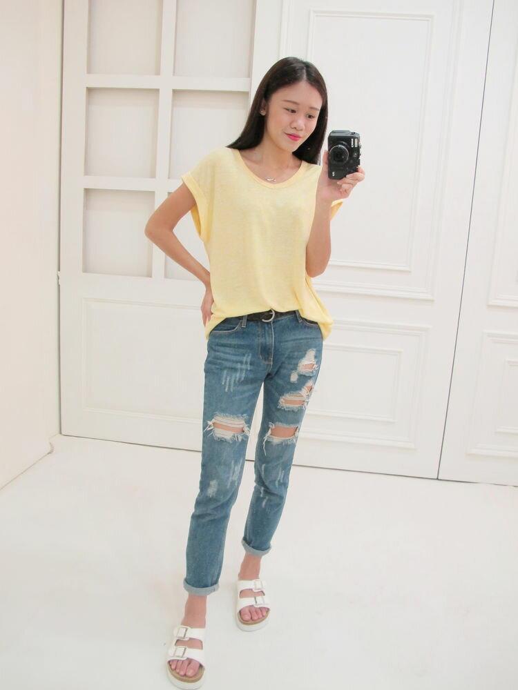 黃色針織薄上衣~2 colors ~  好康折扣