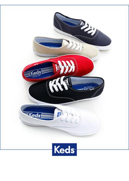 Keds 經典長青帆布鞋(寬楦)-白 白鞋││綁帶│平底鞋 3