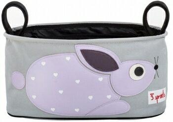 【淘氣寶寶】加拿大 3 Sprouts推車置物袋-小兔子【超大容量置物袋,可調式魔鬼氈】【保證公司貨●品質保證】