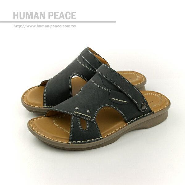 HUMAN PEACE 拖鞋 黑色 男鞋 no273