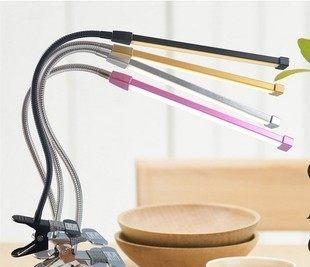 夾式檯燈 360度彎曲LED調光調色溫 黃光 白光 LED 檯燈 桌燈 書桌燈 化妝燈 蛇燈 指甲燈